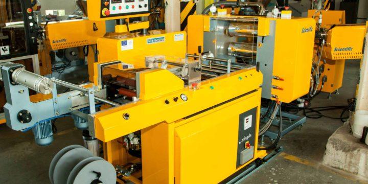 Chill-roll linka na výrobu liatych trojvrstvých fólií A-B-A