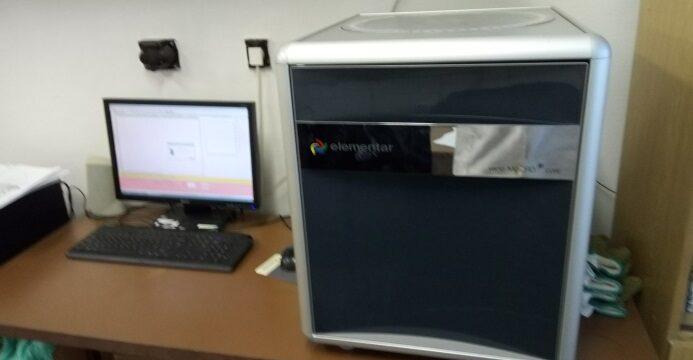 Elementar Vario Macro Cube CHNS/CL – Elementárna analýza